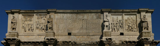 Boog van Septimus Severus stock afbeelding
