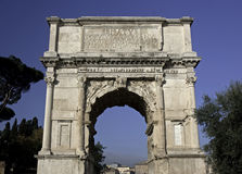 Boog van Titus, Forum Romanum, Rome Royalty-vrije Stock Foto