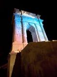 Boog van Trajan - Ancona stock foto's