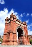 Boog van Triomf, Barcelona Stock Afbeelding