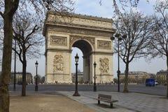 Boog van Triomf, Parijs, Frankrijk Stock Foto's