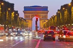 Boog van Triomf, Parijs, Frankrijk royalty-vrije stock afbeelding