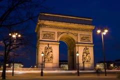 Boog van Triomf, Parijs, Frankrijk Royalty-vrije Stock Afbeeldingen