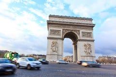 Boog van Triomf van Parijs, Frankrijk royalty-vrije stock foto's