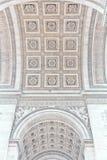 Boog van Triomf van Parijs, Frankrijk Royalty-vrije Stock Afbeelding