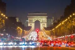 Boog van Triomphe champs-Elysees Parijs Frankrijk stock fotografie