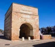 Boog van Ugena in Illescas, Toledo, Spanje Stock Fotografie
