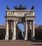 Boog van Vrede in mooi Milan Italy HDR Royalty-vrije Stock Foto's