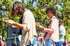 Boogarins (Brazilian rock band) in concert Stock Images