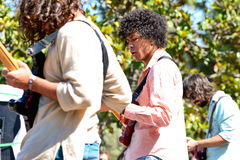 Boogarins (Brazilian rock band) in concert at Heineken Primavera Sound 2014 Festival Stock Photo