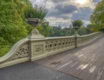 Boogbrug, Central Park, New York CIT royalty-vrije stock afbeelding