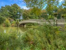 Boogbrug, Central Park, New York CIT royalty-vrije stock fotografie