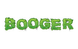 Booger Green slime letters. Snot slippery lettering. Stock Photography
