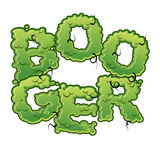 Booger. Snot slippery lettering. Snvel typography. Green slime l Stock Photos