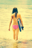 Boogie Board Girl Royalty Free Stock Photos