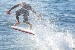Boogie Board Thrill. Boogie Boarder Catching Air in the Ocean Stock Photography