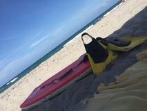 Boogie sulla spiaggia Fotografie Stock