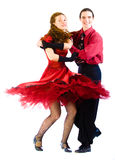 Boogie-voogie dancers stock images