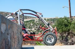 Boogie, wait for me. Boogie car to rent in Millos island in Greece. Isolation, sustainable living conditions royalty free stock image