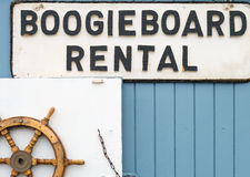 Boogieboard rental. Rent boogieboards here at Pismo Beach, California Stock Images