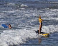 Boogieboarding. Event:  42nd Annual Buffalo Keaulana Big Board Surfing Classic Stock Image