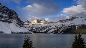 Boogmeer, het Nationale Park van Banff stock footage