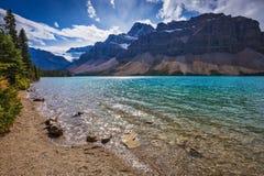 Boogmeer in het Nationale Park van Banff Royalty-vrije Stock Afbeeldingen