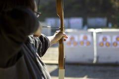 Boogschieten in een het Schieten Waaier Stock Foto's