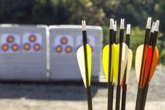 Boogschieten in een het Schieten Waaier Royalty-vrije Stock Fotografie