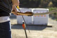 Boogschieten in een het Schieten Waaier Stock Fotografie