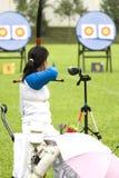 Boogschieten voor Gehandicapten Royalty-vrije Stock Afbeeldingen