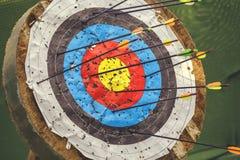 Boogschietendoel met pijlen 3 Royalty-vrije Stock Afbeelding