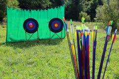 Boogschietenpijlen Stock Foto