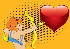 Boogschutter en het hart. Royalty-vrije Stock Afbeeldingen