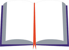Book 03. Vector white book in color royalty free illustration
