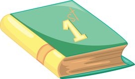 Book. Clipart style cartoon of a book Stock Photo