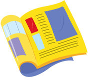 Book. Illustration of book on white Stock Photography