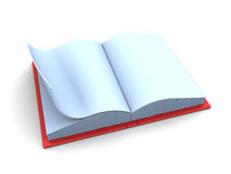 Book. 3d illustration of blank opened book over white background Royalty Free Stock Photography