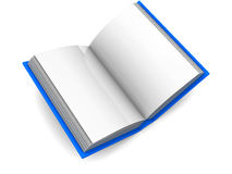 Book. 3d illustration of blank pages book over white background Royalty Free Stock Photos