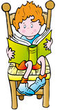 Book. Child sitting reading a book Royalty Free Stock Photo