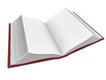 Book. Open book with blank pages; 3D rendered image Stock Photos