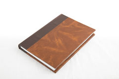 Book. Home made diary book isolated in white background Stock Images
