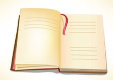 A Book. An open book with places for  text Stock Photography