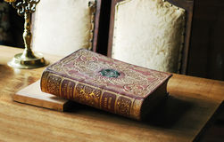 Book. The old history book on the table Royalty Free Stock Photos