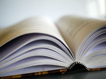 Book. Open book. Shallow depth of field Royalty Free Stock Photos