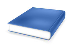 Book. Illustration of a blue hardcover book Royalty Free Illustration