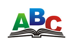 Book. Open book with brightly colored letters Stock Image