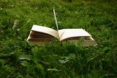 Book. Garden, grass, book royalty free stock photos