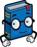Book. A smiling blue book with glasses Royalty Free Stock Images