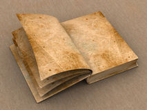 Book. Old open book. 3d object stock photo